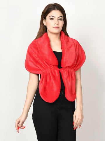 Folded Neck Fur Wrap