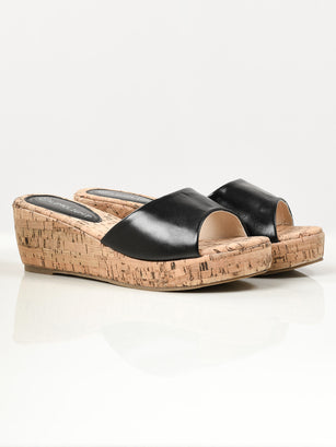 Textured Wedges - Black