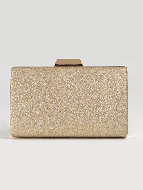 Shimmery Box Clutch