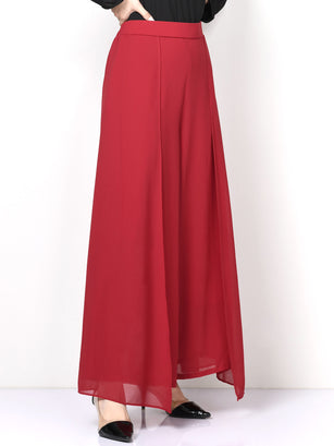 Flared Chiffon Pants