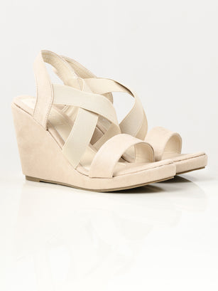 Criss Cross Wedges - Cream