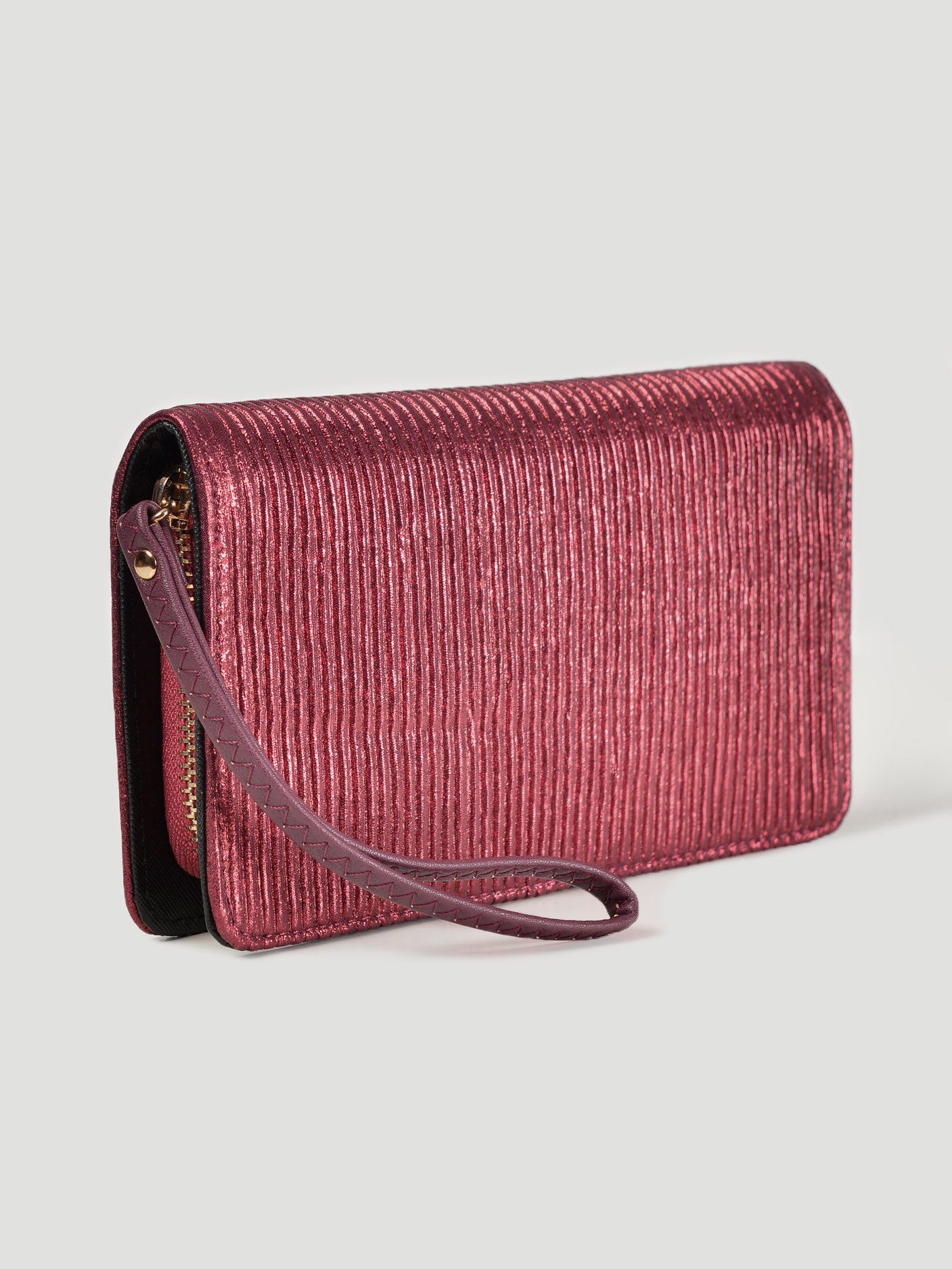 Shimmer Striped Wallet