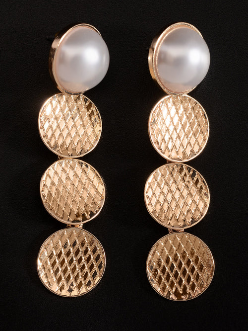 Circular Pearl Earrings