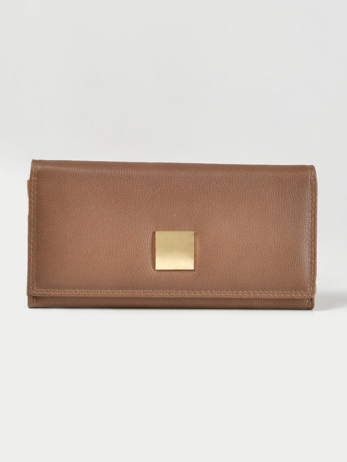 Metallic Square Wallet