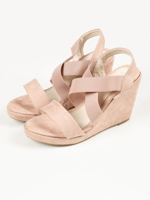 Criss Cross Wedges - Tea Pink