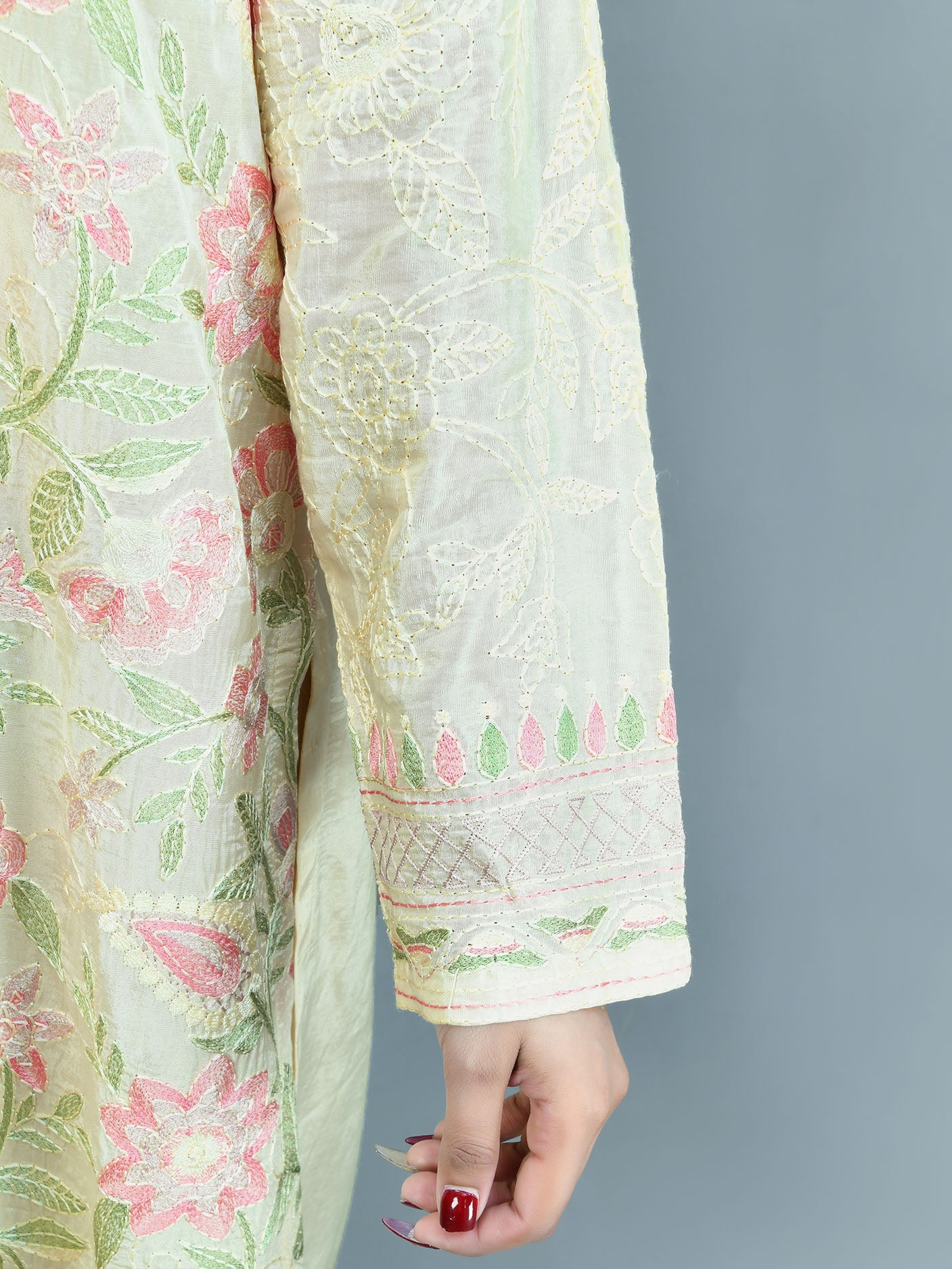 Embroidered Thai Silk Suit