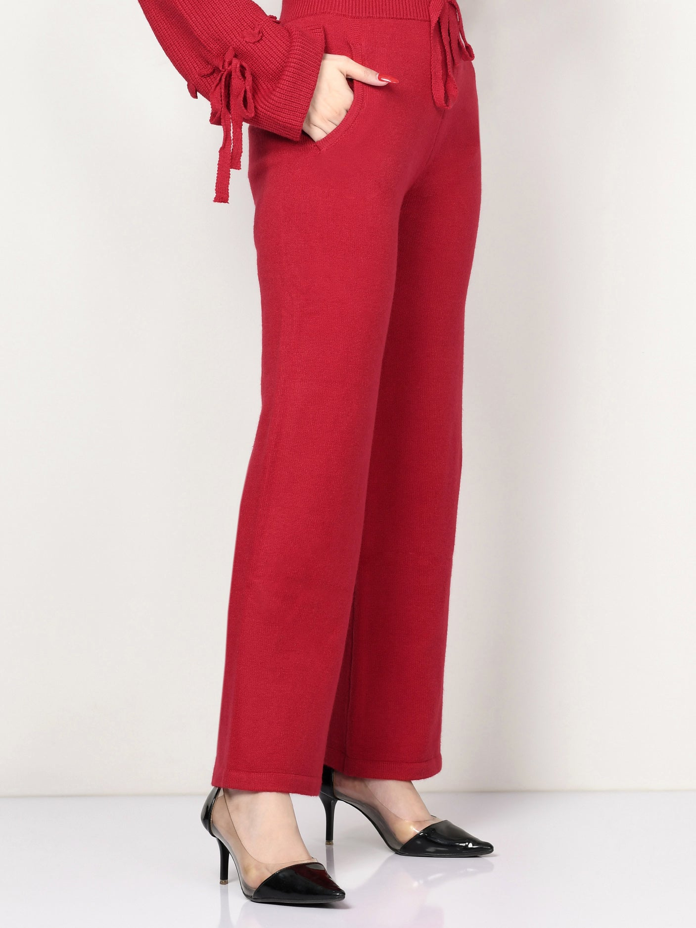 Limelight Online Folded Neck Fur Wrap CPS75-FRE-RED