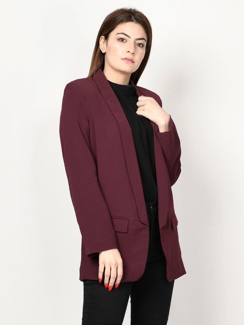 Basic Coat - Dark Maroon