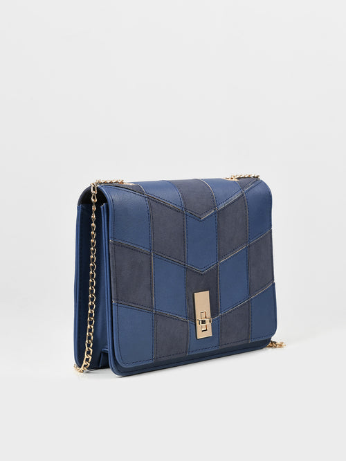 Box Patterned Clutch