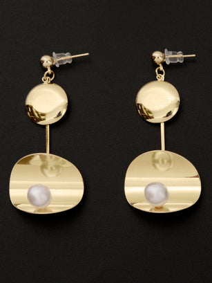 Bended Pearl Earrings