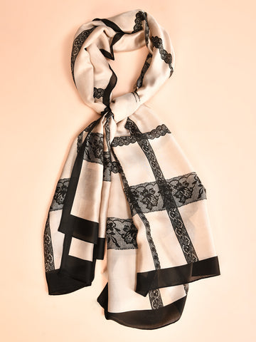 Printed Doted Silk Scarf