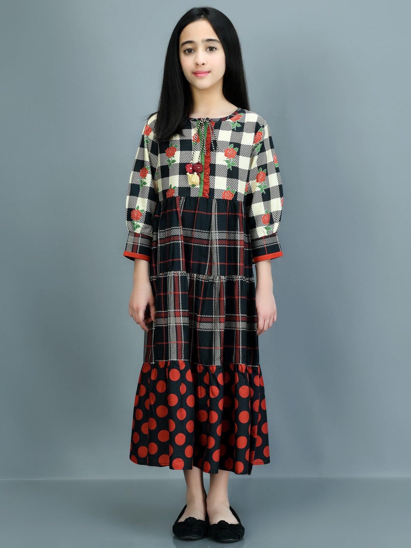 Printed Winter Cotton Dress