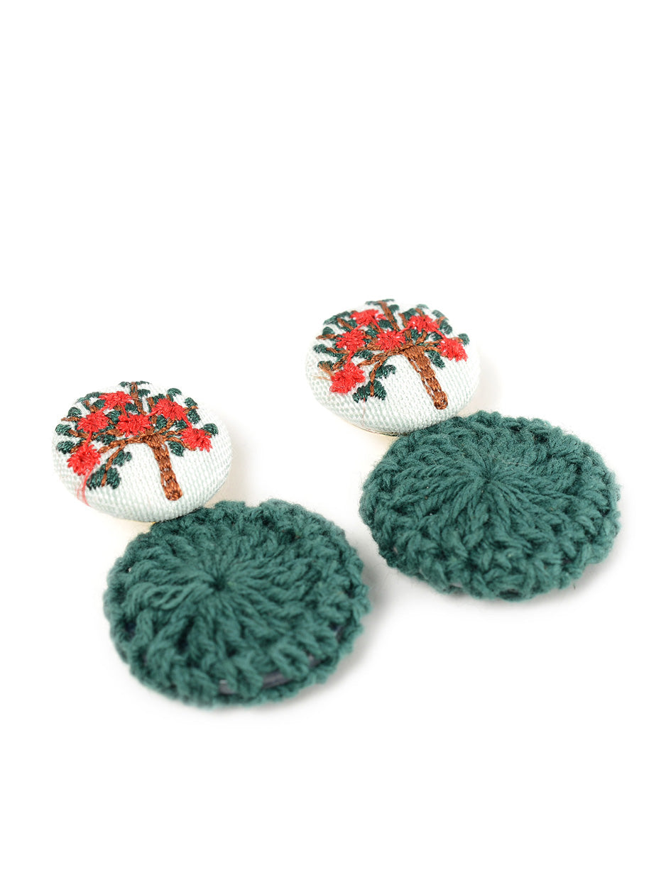 Circular Fabric Earrings
