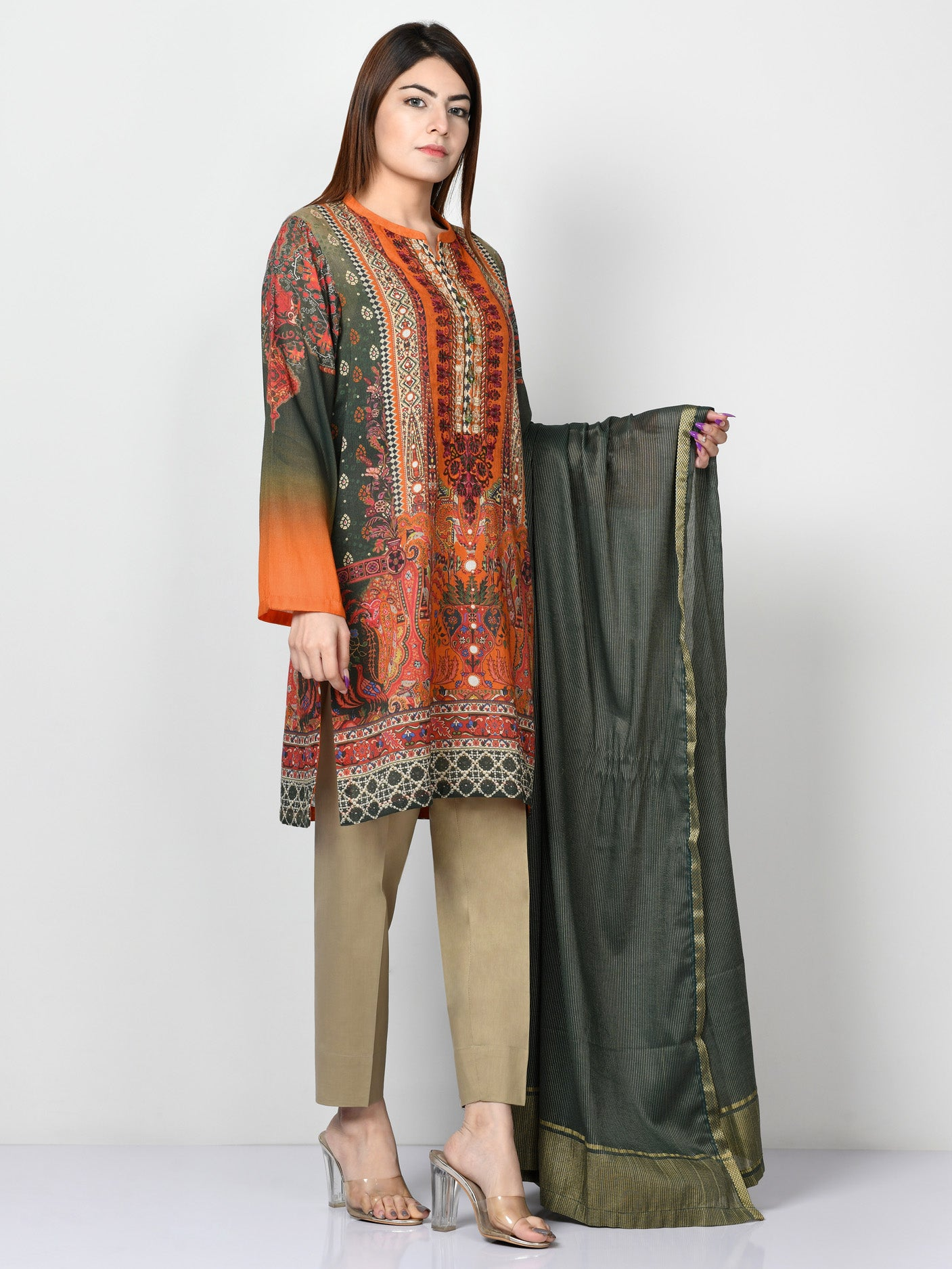 Embroidered Masoori Lawn Suit