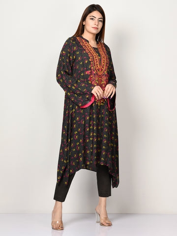 Embroidered Arabic Lawn Shirt