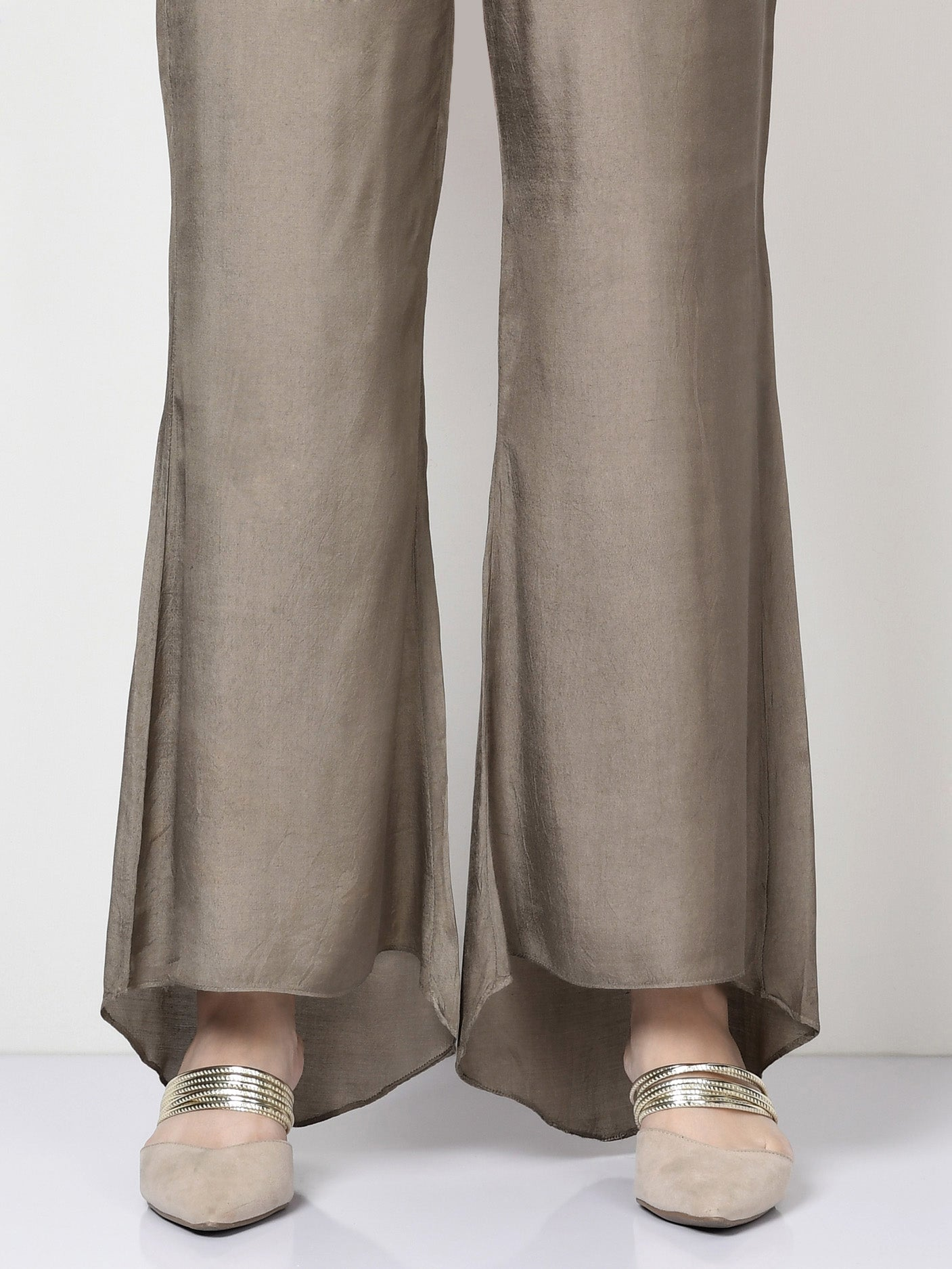 Flared Silk Pants
