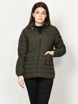 Puffer Jacket - Dark Green