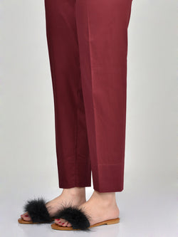 Straight Trouser-Dark Maroon