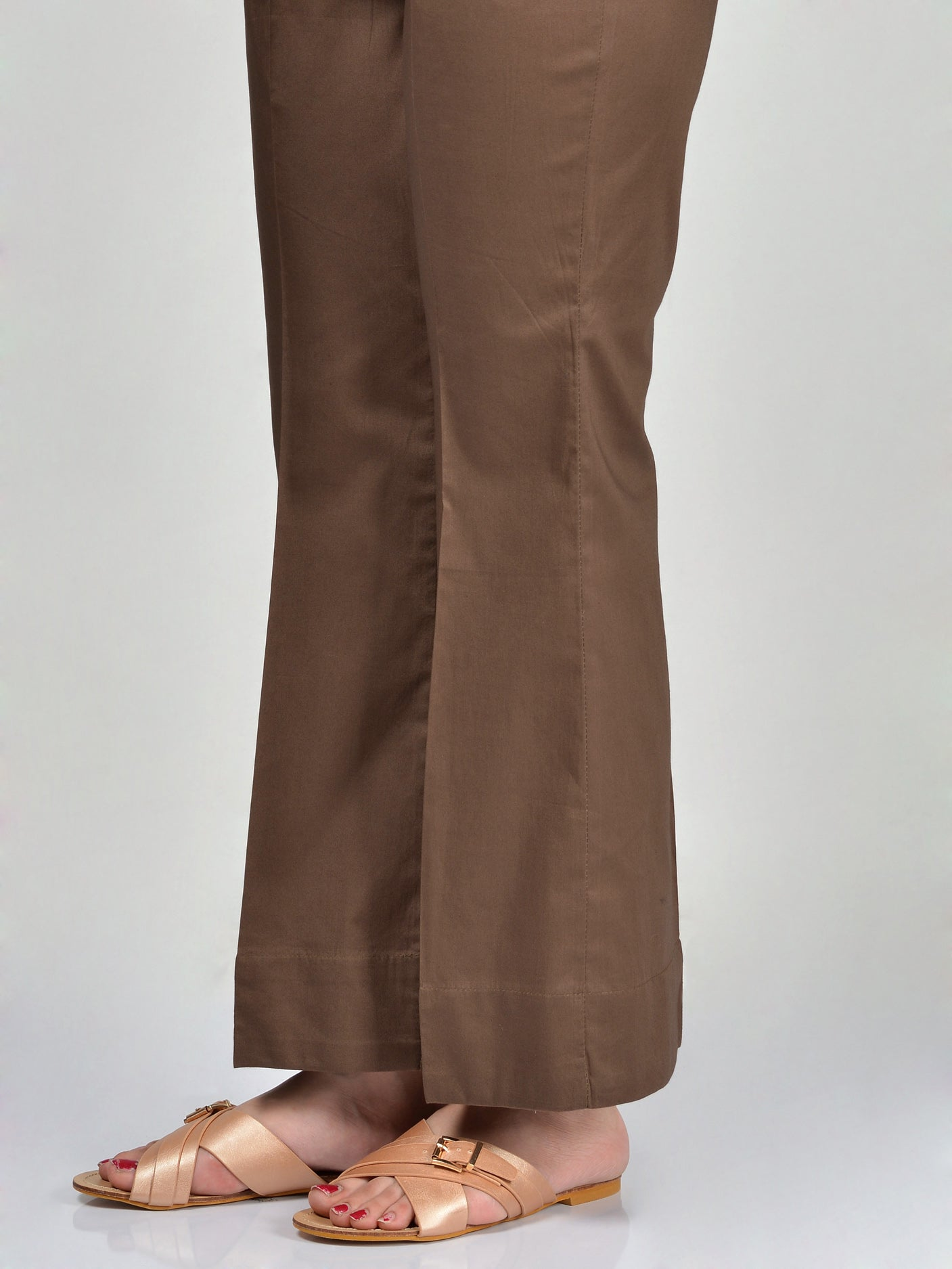 Bootcut Pants-Chocolate