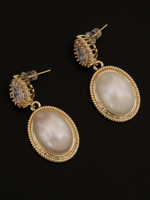 Oval Drop Earrings