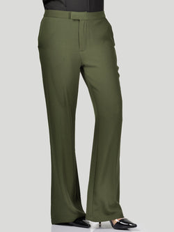 Flared High-Waist Pants