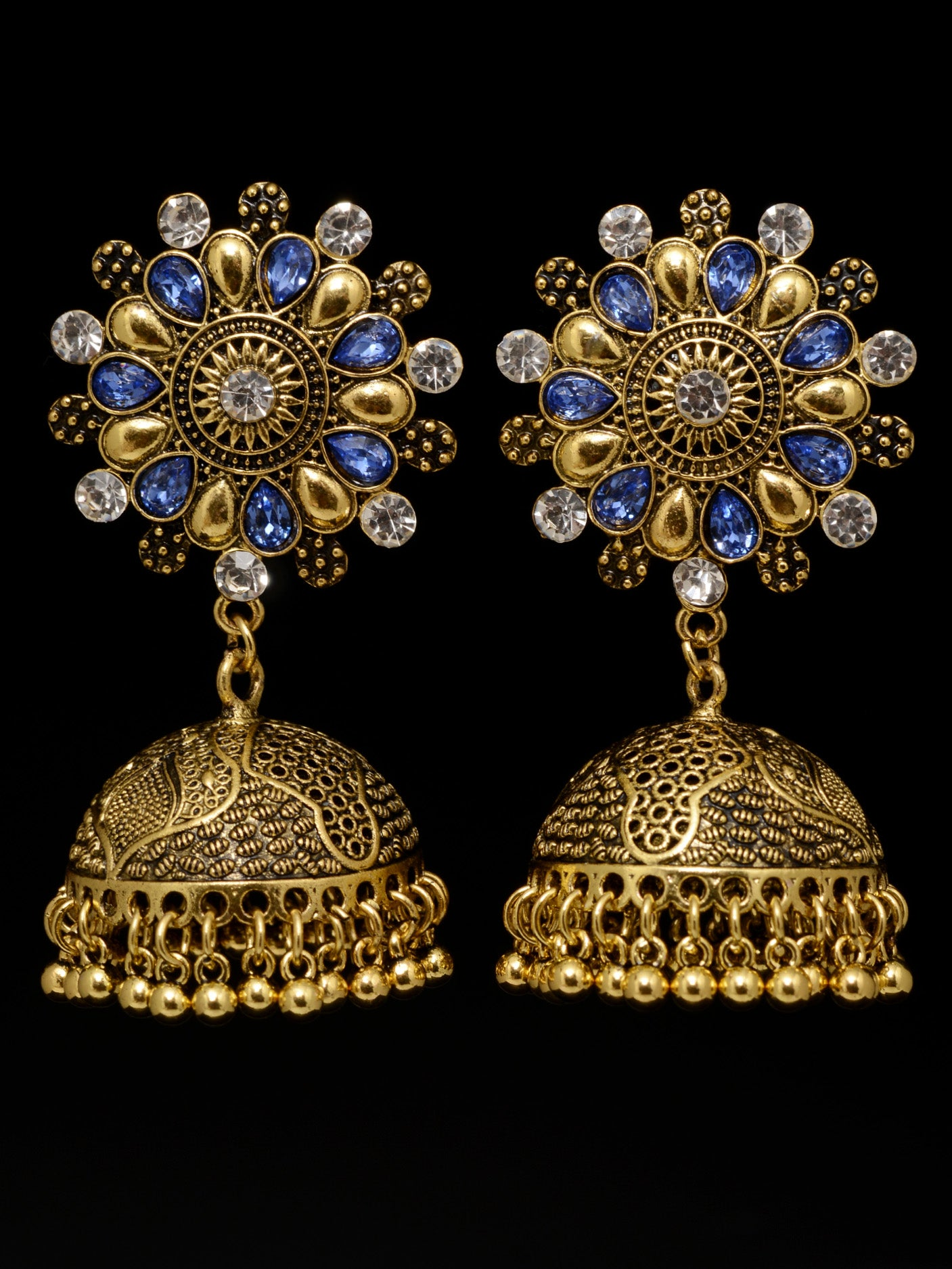 Floral Jhumka Earrings