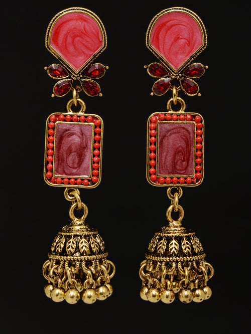 Colored Jhumka Earrings
