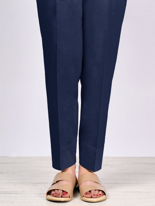 Straight Trouser-Dark Blue