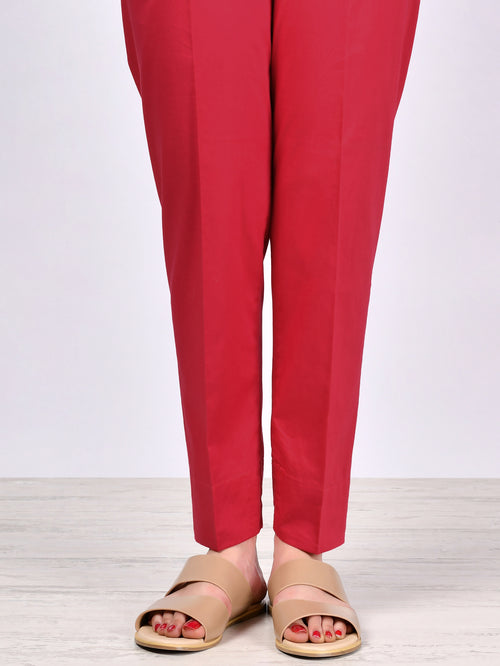 Straight Trouser-Light Red