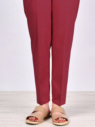Straight Trouser-Maroon