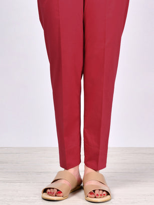 Straight Trouser-Red