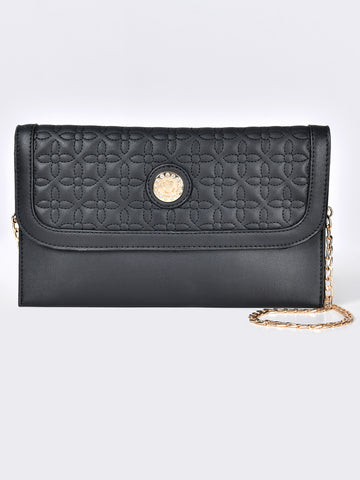 Embroidered Diamante Clutch