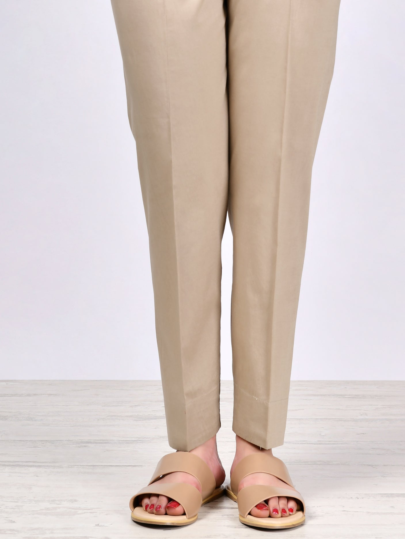 Straight Trouser-Beige