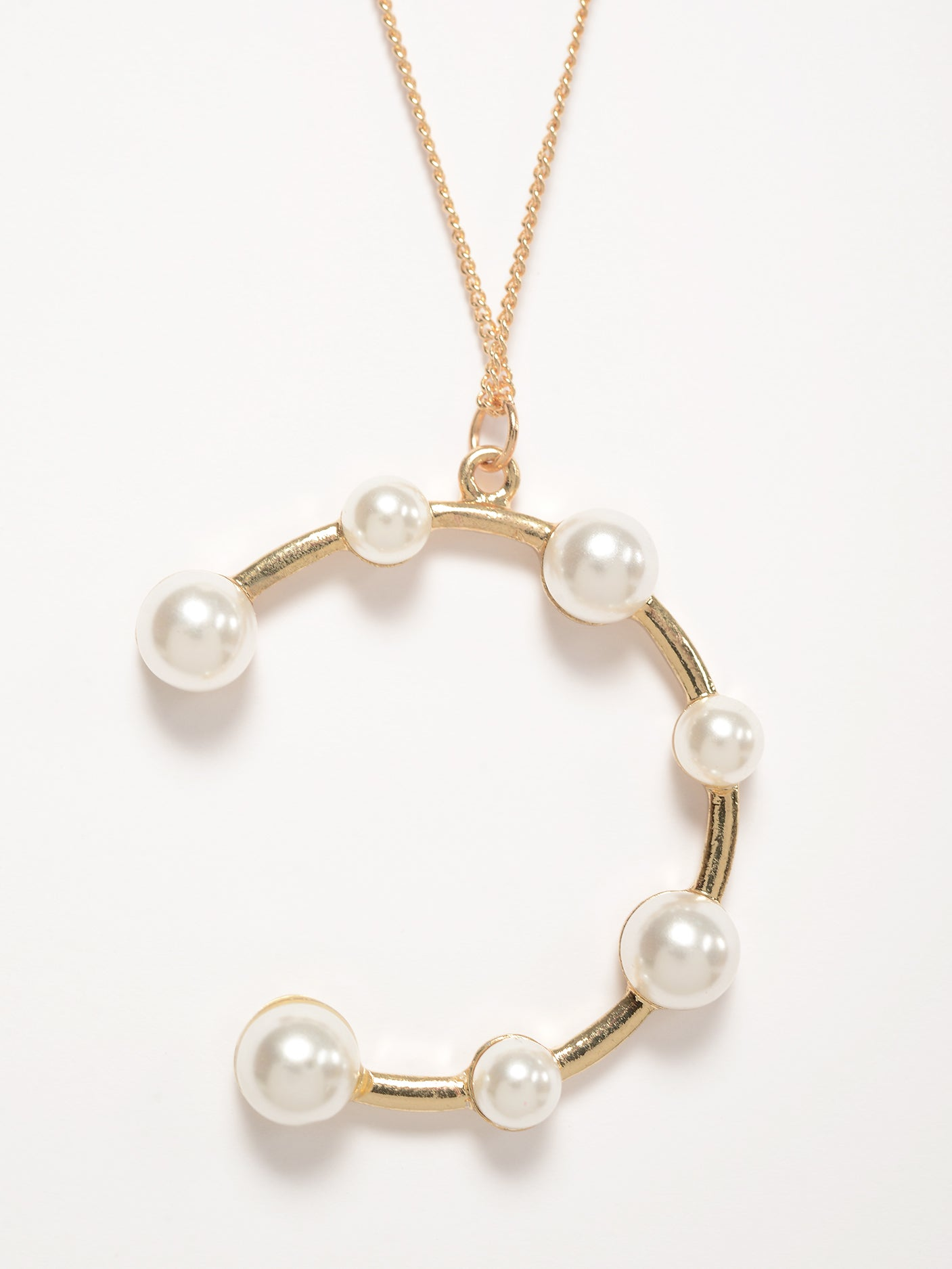 Layered Pearl Ring Necklace