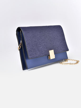 Textured Flap Clutch
