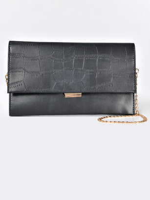 Textured Rectangular Clutch