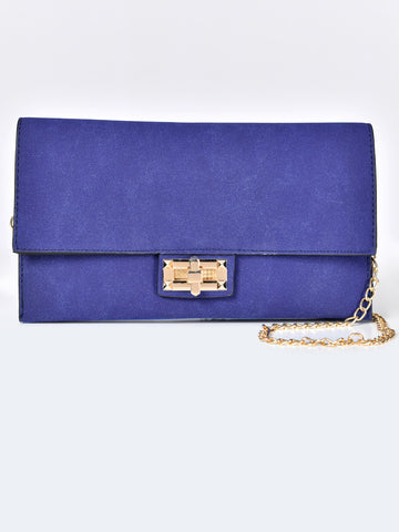 Suede Clutch