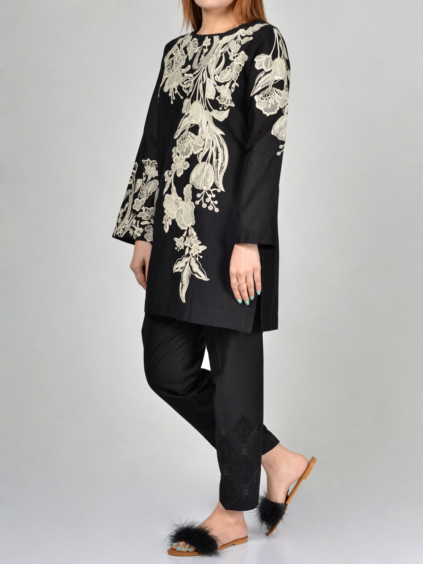 Limelight Embroidered Cambric Shirt P1992 Online in Pakistan | Limelight.pk
