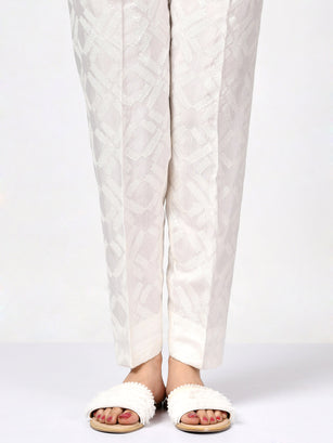 Embellished Silk Trouser
