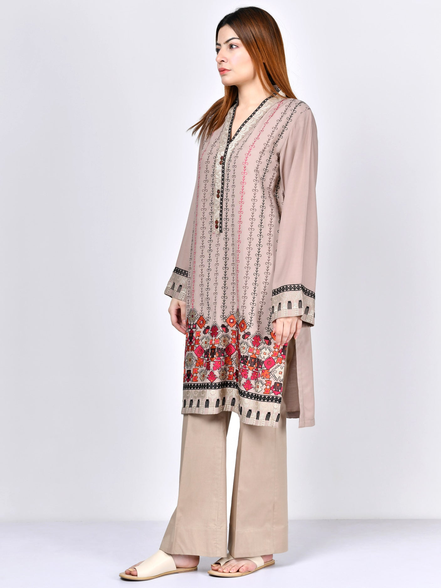 Embroidered Stone Shirt