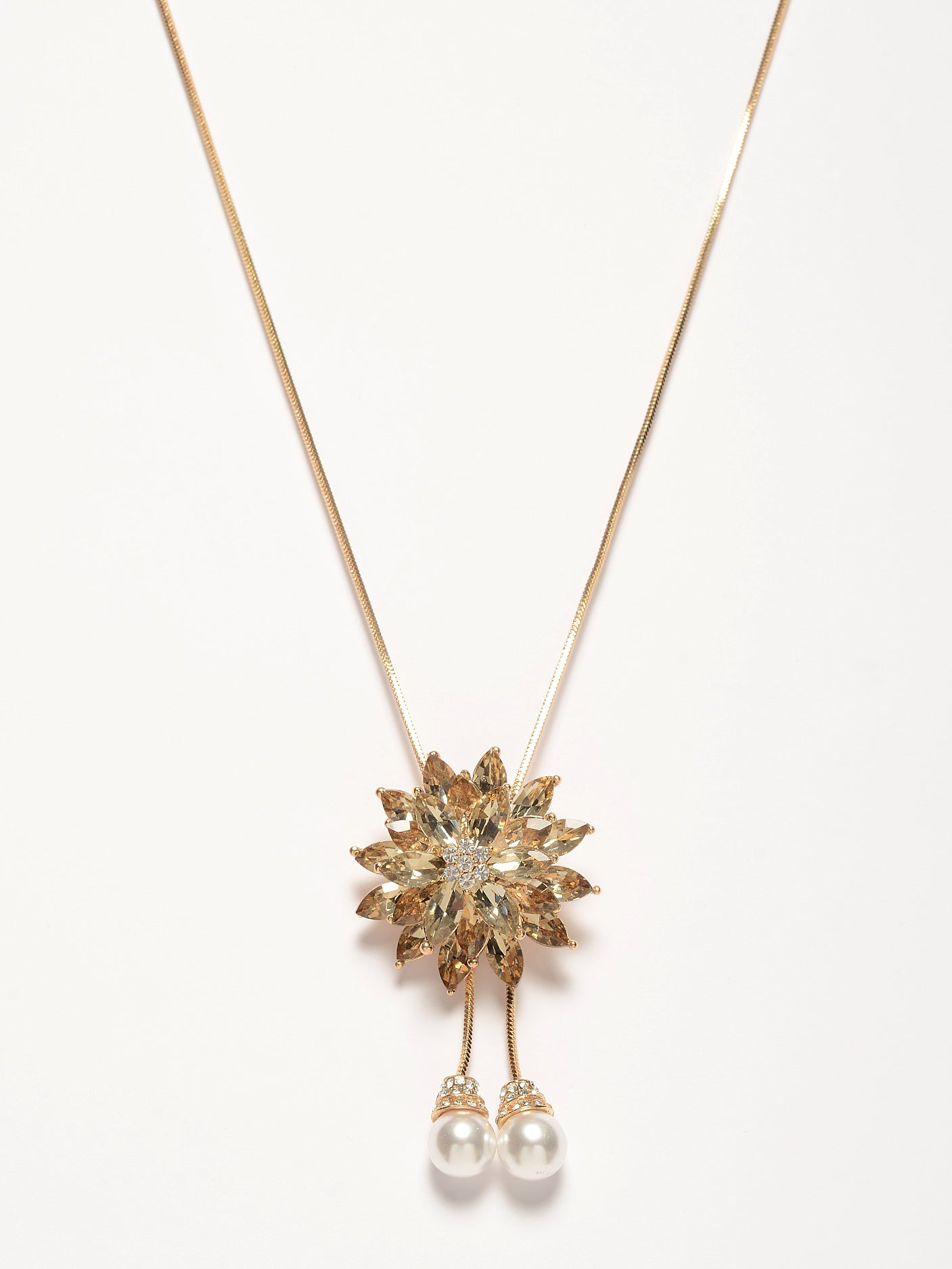 Stoned Flower Necklace