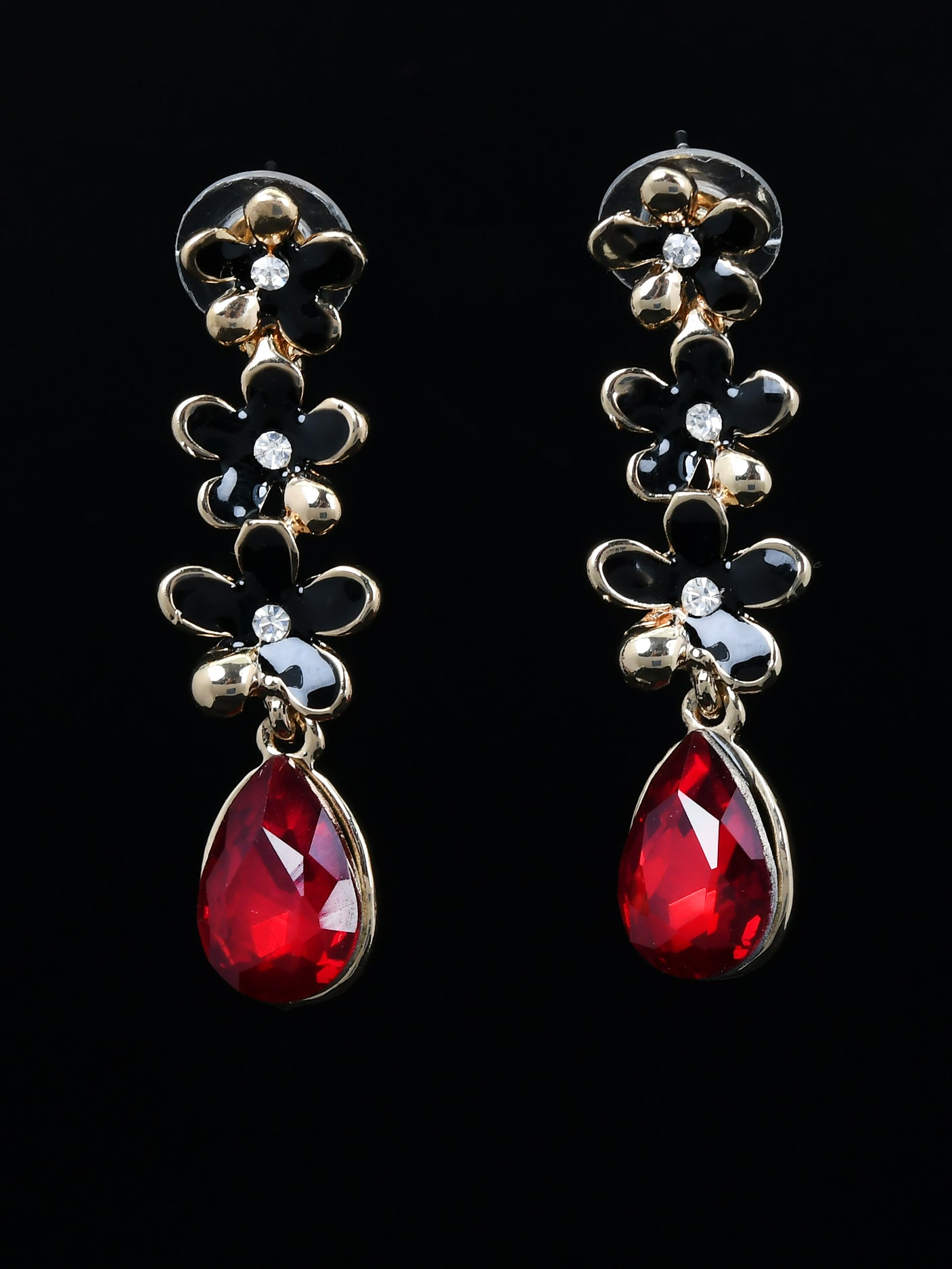 Floral Stone Earrings