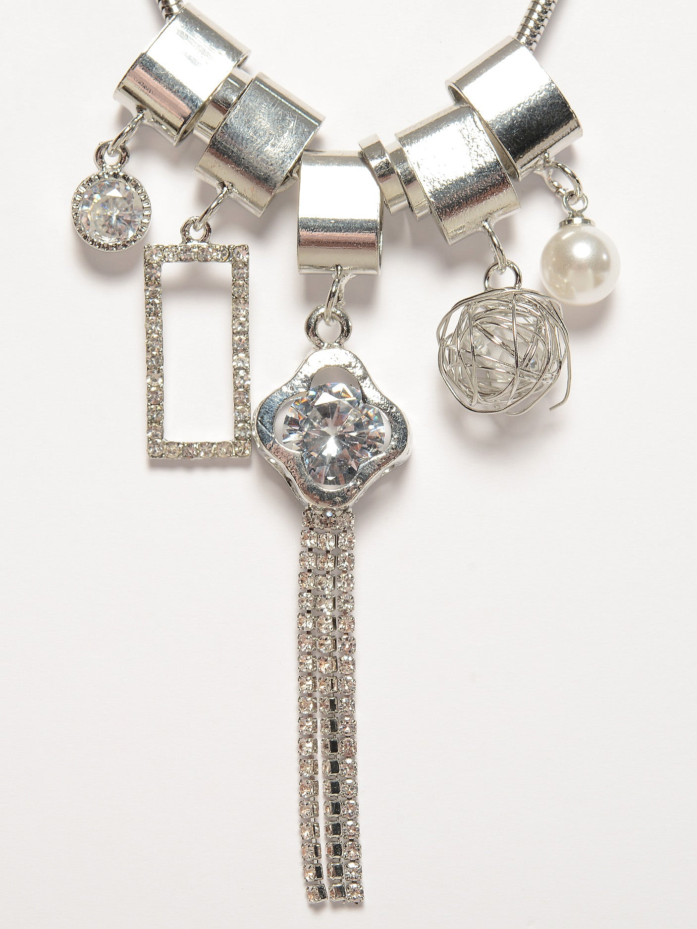 Diamante Charms Necklace