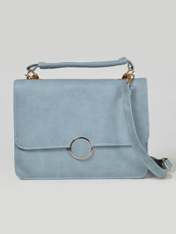 Textured Square Handbag
