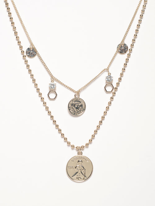 Metallic Charms Necklace