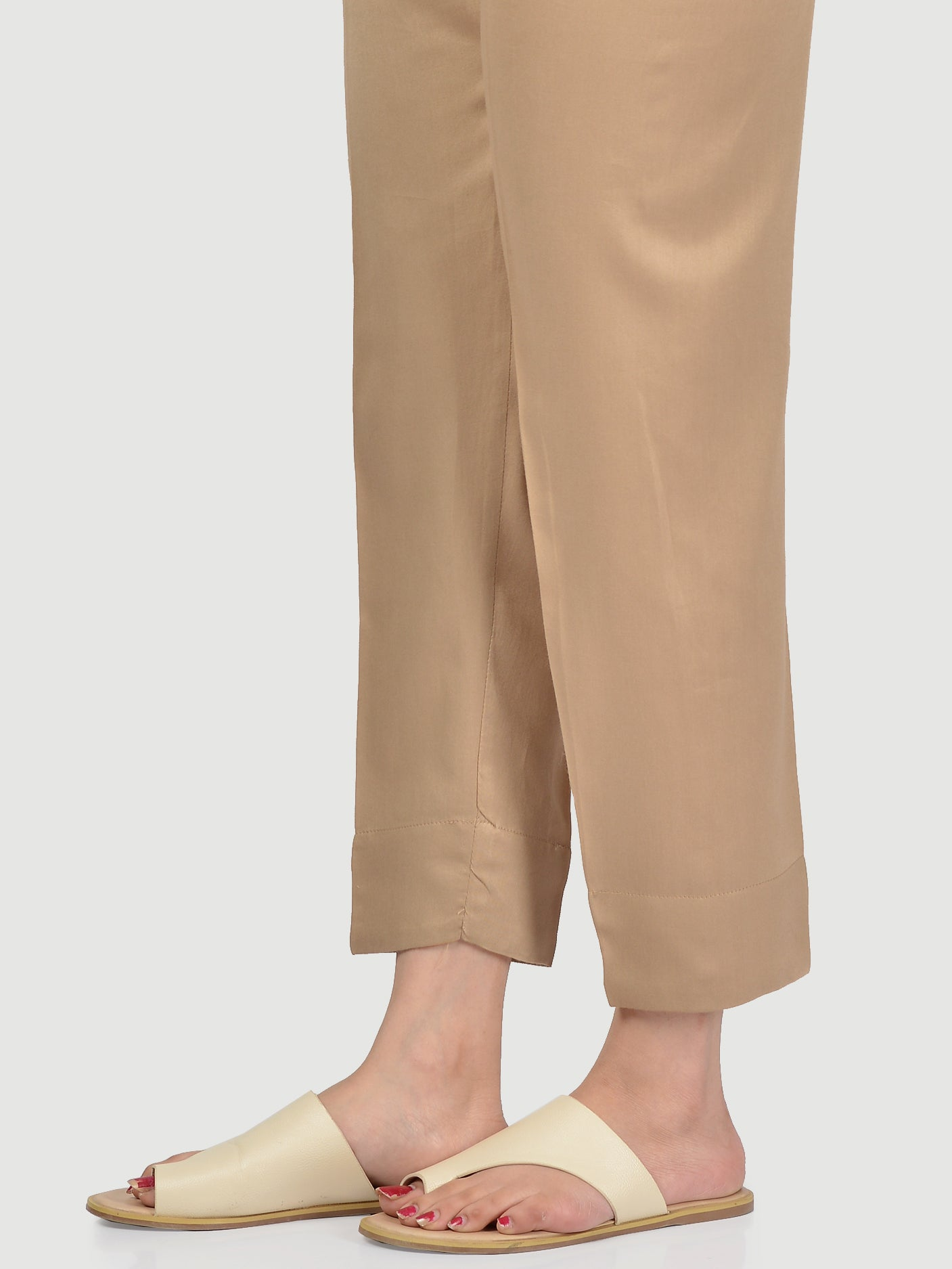 Straight Trouser-Deep Khaki