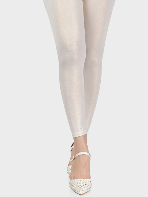 Shimmer Tights-Off White