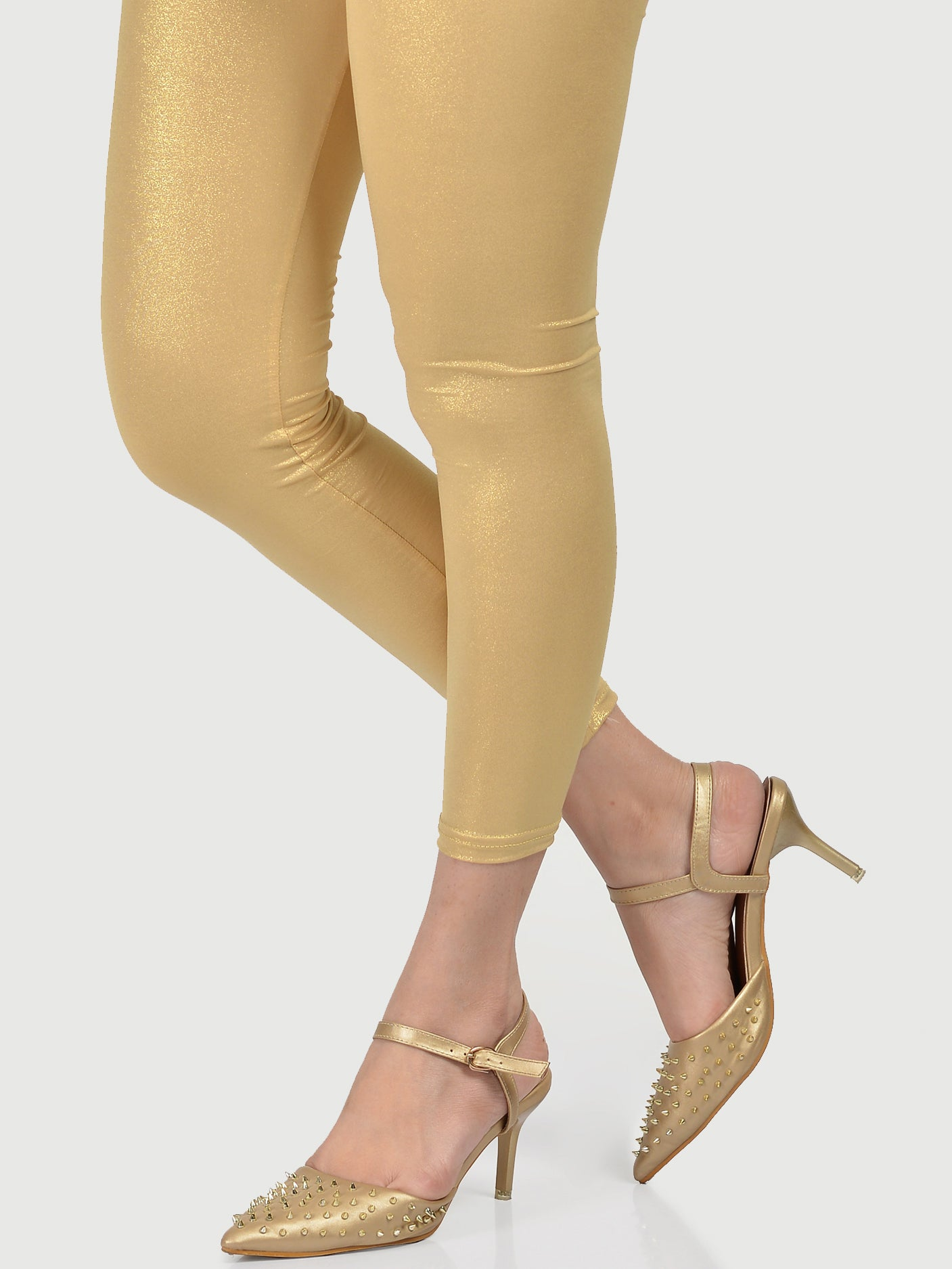 Shimmer Tights-Gold