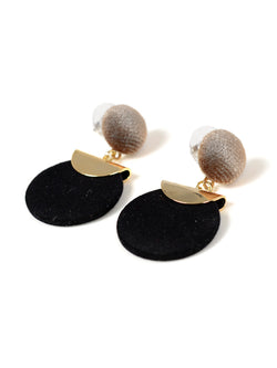 Brown Circular Earrings