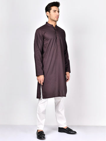 Cotton Kurta-Dark Purple